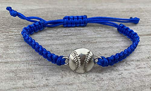 (Sportybella Baseball Bracelet, Baseball Jewelry, Adjustable Braided Baseball Bracelet, Perfect Baseball Gifts)