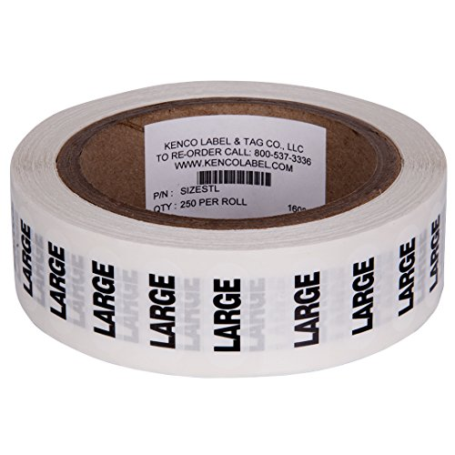 - Clothing Size Strip Labels - 1.25