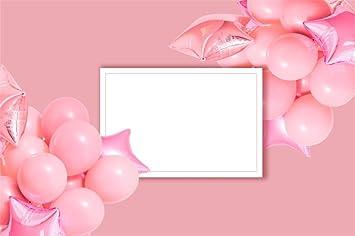 LFEEY 7x5ft Custom Photo Backdrop Vinyl Birthday Party Events Photo Shoot Drapes Wallpaper Decoration Pink Balloons