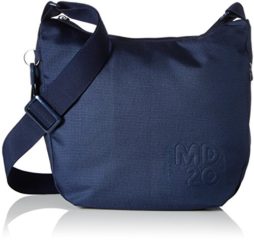 Mandarina Duck Damen Md20 Tracolla Schultertasche, 10x26x29 cm Blau (Dress Blue)
