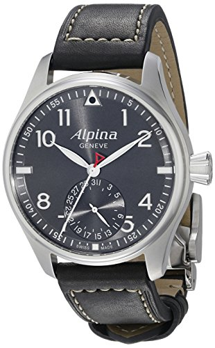 Alpina-Mens-AL-710G4S6-Startimer-Pilot-Manufacture-Analog-Display-Automatic-Self-Wind-Black-Watch