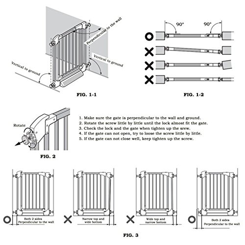 Fairy Baby Easy Step Walk Thru Pet and Baby Gate Expandable 29.5'' High,Fit Spaces 40.55''-43.31'' by Fairy Baby (Image #9)