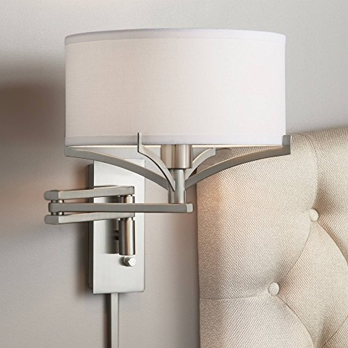 - Tremont Brushed Nickel Metal Swing Arm Wall Lamp - Possini Euro Design