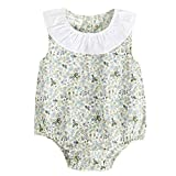 squarex Girls Rompers, Newborn Infant Baby Boy Girls Floral Print Rompers Outfits Clothes (18-24Months, Green)