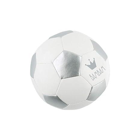 BAMBAM - Balón de fútbol pequeño (plata/blanco) - B-81012C: Amazon ...