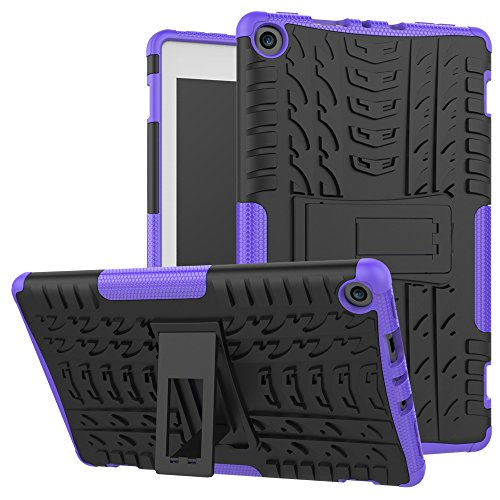 Maomi-Amazon-Fire-8-2017-release-CaseKickstand-FeatureShock-AbsorptionHigh-Impact-Resistant-Heavy-Duty-Armor-Defender-Case-For-Amazon-Fire-HD8-2017-Tablet-Purple