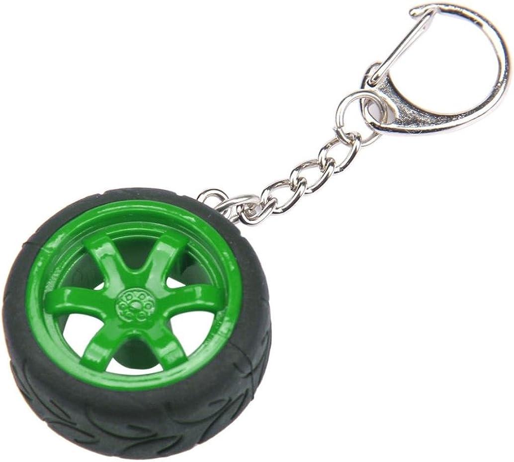 Keyring,Clode/® Popular Creative Car Auto Metal Mini Wheel Rim Tyre Key Chain Keyring