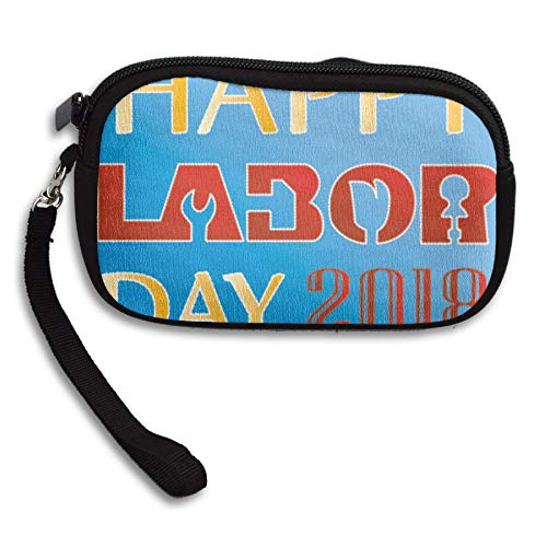 WCVRUT Unisex Clutch Wallet For Woman Ladies -Happy-Labor-Day-2018 Long Purse Bag Men Gentlemen by WCVRUT