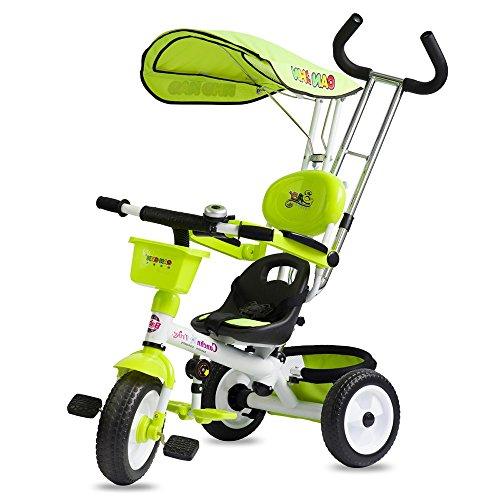 Chariot bébé, poussette bébé, vélo enfant, tricycle enfant, vélo enfant ( Couleur : Vert )