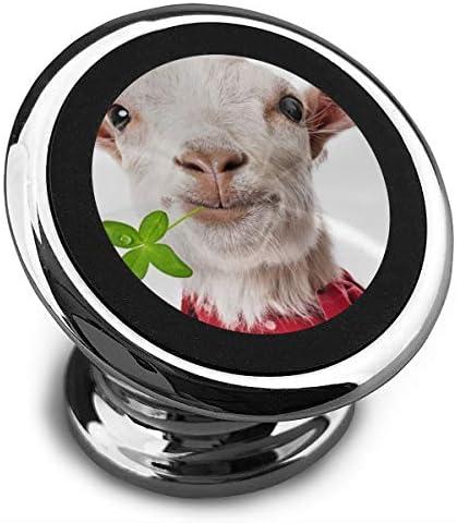 面白いヤギ 携帯電話ホルダー おしゃれ 車載ホルダー 人気 磁気ホルダー 大きな吸引力 サポートフレーム 落下防止 360度回転