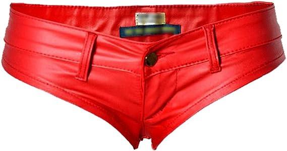 YiLianDa Signore Hotpants Pelle Pantaloni Guardare Pantaloncini Sguardo Panty