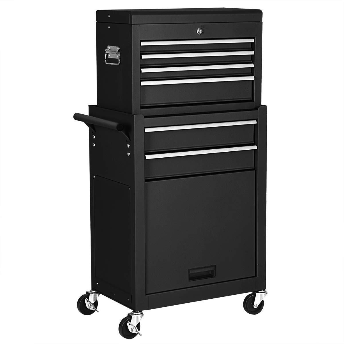 Goplus 6-Drawer Rolling Tool Chest Removable Tool Storage Cabinet with Sliding Drawers, Keyed Locking System Toolbox Organizer (Black) by Goplus (Image #7)