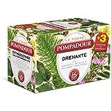 Pompadour - Le Tisane, Drenante - 18 filtri - [confezione da 3]