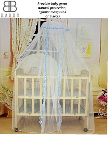 Universal Size Baby Crib Mosquito Guard Netting - Compatible with Baby/Toddler Cribs, Beds, Bassinets, Playpens, Cradles