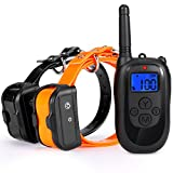 Training Dog Collar - ALTMAN Remote 330yd Dog Training Collar Rechargetable and 100% Waterproof Shock Collar,with Beep/Vibration/Shock Electric Collar for 2 Dogs