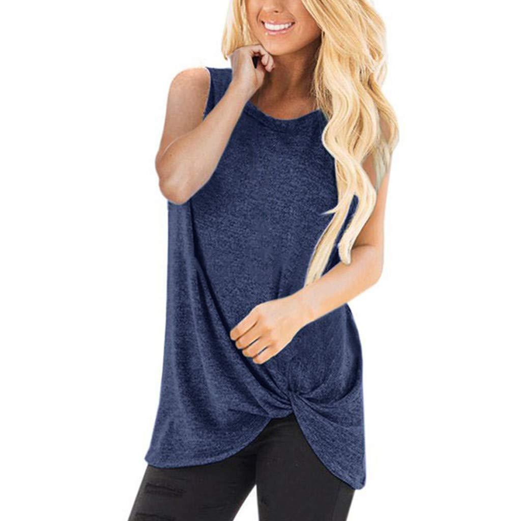 81d2155950 Jeans ☆Tefamore T-Shirt décontracté à Manches Longues en Vrac à la Mode  féminine à ...
