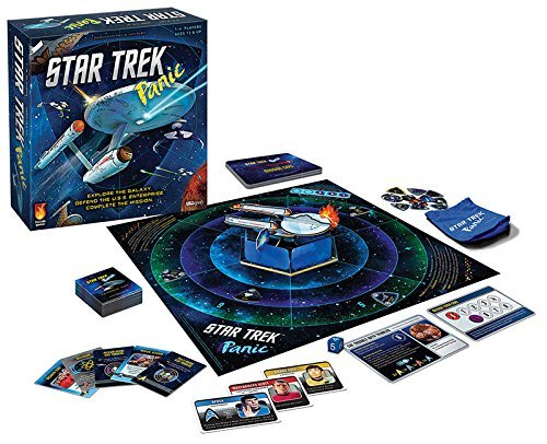 Star Trek Panic: The Orginal Series Deluxe 50th Aniversary Limited Edition Board Game w/Enterprise Model Official USAopoly