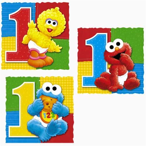 Amazon Sesame Street 1st Birthday Party Hanging Decoration Toys Games