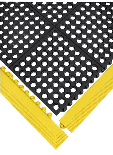 Wearwell Nitrile Rubber 572 24/Seven Anti-Fatigue Mat, for Wet Areas, 3' Width x 3' Length x 5/8