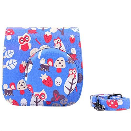 sinfu-leather-flower-camera-case-bag-for-fujifilm-instax-mini8-mini8s-dark-blue