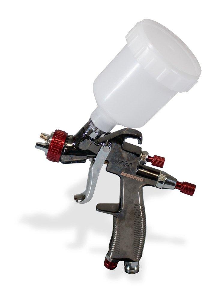 AEROPRO USA R100 LVMP Gravity Feed Air Spray Gun, 0.8 mm Nozzle