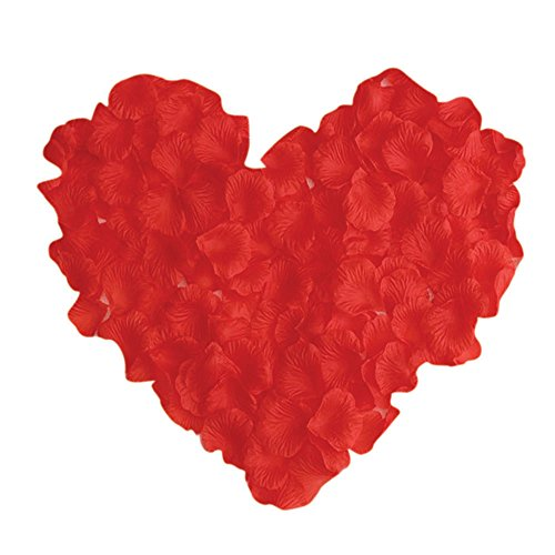 (Neo LOONS 1000 Pcs Artificial Silk Rose Petals Decoration Wedding Party Color Red)