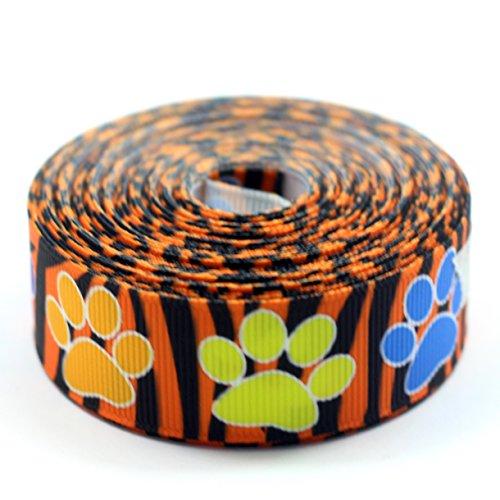 Midi Ribbon Dog Paw Print Grosgrain Ribbon 7/8