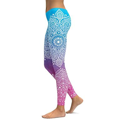 Shuangklei Print Yoga Pants Women Unique Fitness Leggings Workout Sports  Running Leggings Sexy Push Up Gym 7c03c1c38fd2