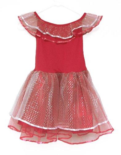 White Swan Ballerina Costume (Angelic Ballerina Tutu Princess Party Dress (medium, Red))