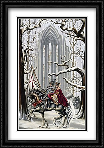 Faith 2x Matted 26x39 Large Black Ornate Framed Art Print by Ruth Thompson by ArtDirect