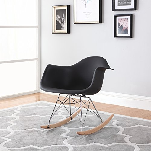 Modern EAMES Rocking Armchair Natural