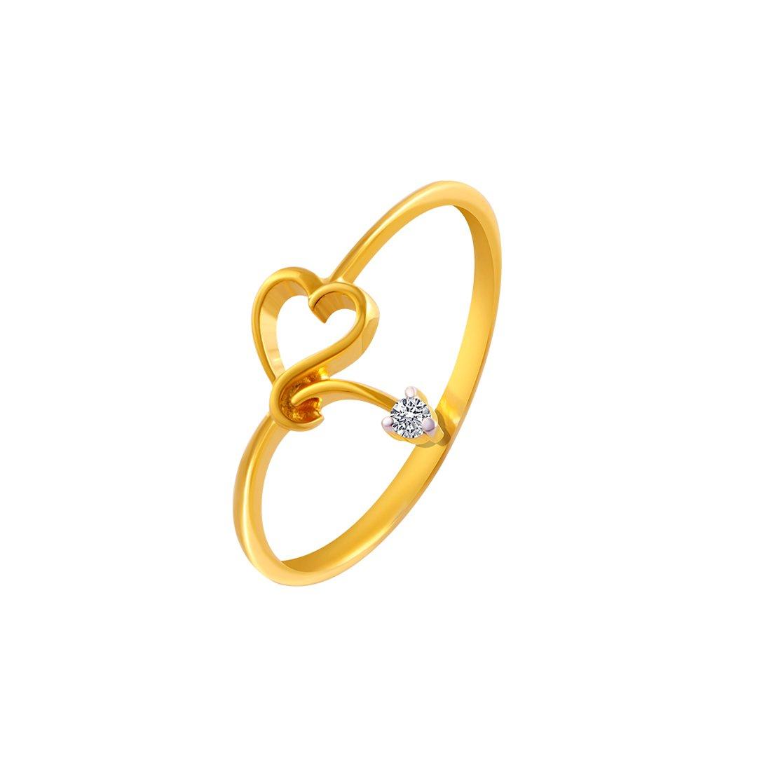 Buy P C Chandra Jewellers 14kt Yellow Gold And American Diamond