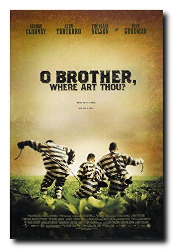 Four Brothers Movie Poster - Mile High Media Oh Brother Where Out Thou Movie Poster 24x36 Inch Wall Art Portrait Print - George Clooney