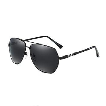 HONEY Polarisierte Sonnenbrille Für Herren Fahrbrille  Leichtgewicht Vakuum-Plating  Voller 400UV Schutz (Farbe : Black/dark gray) v9Jre6Ioi