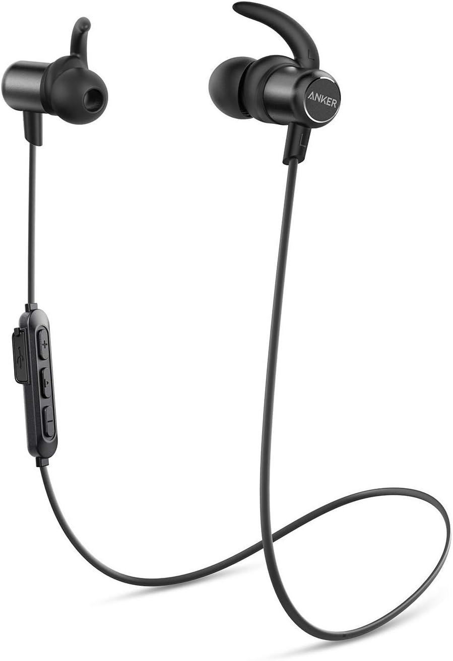 Anker Soundbuds - Auriculares in-Ear inalámbricos con Bluetooth (batería de 10 Horas, protección IPX7, Bluetooth 5.0) (Reacondicionado)