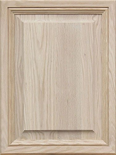 Unfinished Oak, Mitered Raised Panel Cabinet Door by Kendor, 24H x 18W