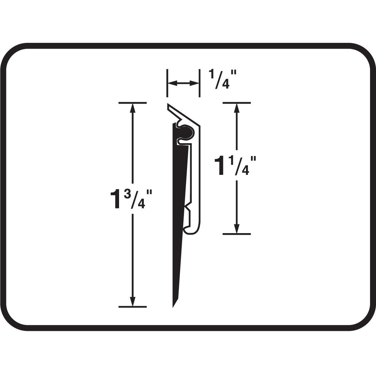 4- M-D Building Products 69609 1-1//4-Inch EPDM Bronze Pack 48-Inch DB006 Commercial Grade Door Sweep