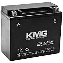 YTX24HL-BS Battery For Bombardier Ski-Doo All Models 1998 Sealed Maintenace Free 12V Battery High Performance SMF OEM Replacement Maintenance Free Powersport Motorcycle ATV Scooter Snowmobile Watercraft KMG