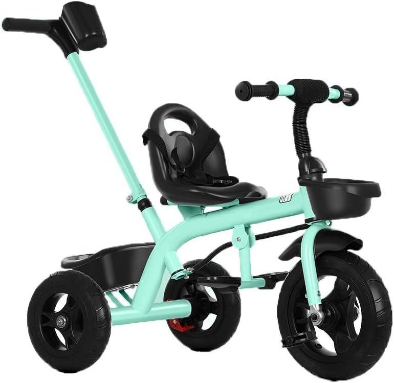 LRHD Triciclo for niños, triciclo de niños, sillitas de paseo, triciclo pedal de la bicicleta 4 en 1 padres empujan a niños y las niñas 1-6 años en interiores y al aire libre con cajas de almacenaje y