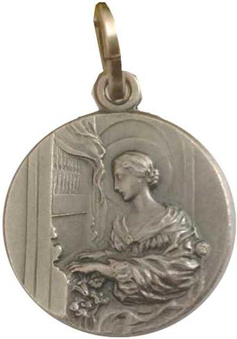 Medalla de Santa Cecilia en Plata Maciza 925 - Protector de cantantes y músicos, patrona de la música: Amazon.es: Joyería