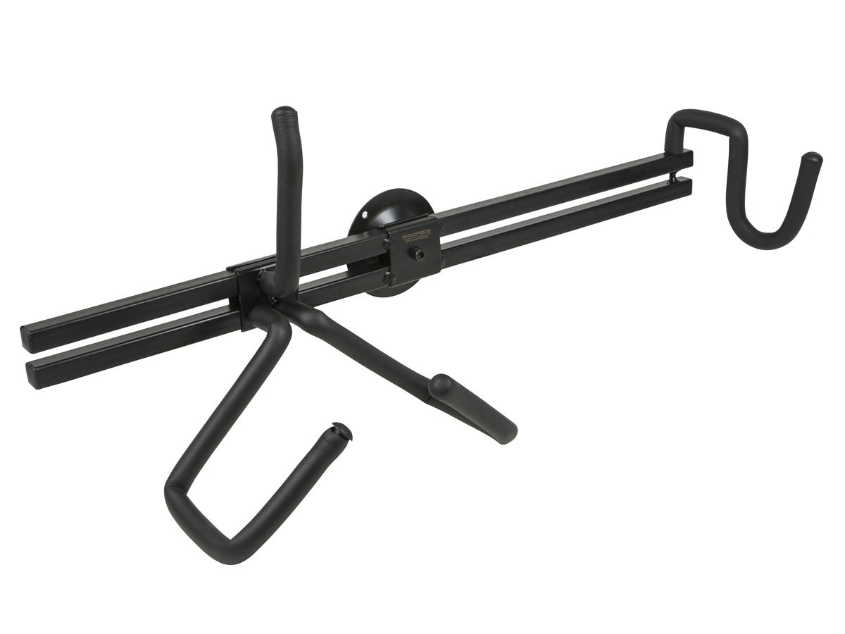 Monoprice 602130 Electric Guitar Wall Mount - Black | Horizontal Hanger/Holder, 23 Inch Bracket Length, Store or Display For All Standard Sized Electric Guitars