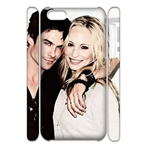 3D IPhone 5C Cases Candice Accola Ian Somerhalder, Tyquin, {White}