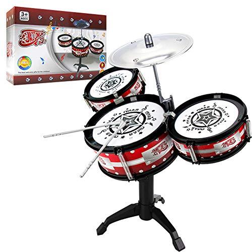 (Kids Drum Set Children's Junior Beginner Mini Desktop Drum Kit Music Jazz Drum Rock Set Toy Musical Instrument)