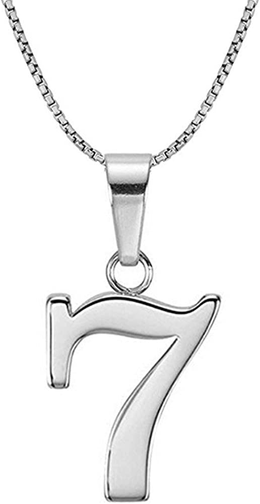 Lutilo 925 Sterling Silver Number 0-9 Charms Pendant Necklace with Chain