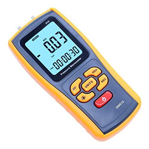 Zerama Portable Digital LCD Display Pressure Manometer Handhold Manometer Pressure Testing Gauges