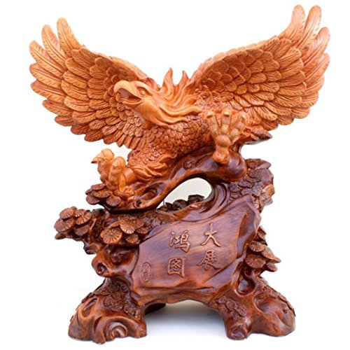 GL&G Lifelike eagle Lucky Decoration office Home living room Tabletop Scenes Ornaments Collectible Keepsake High-end Business gift,B,331633cm by GAOLIGUO