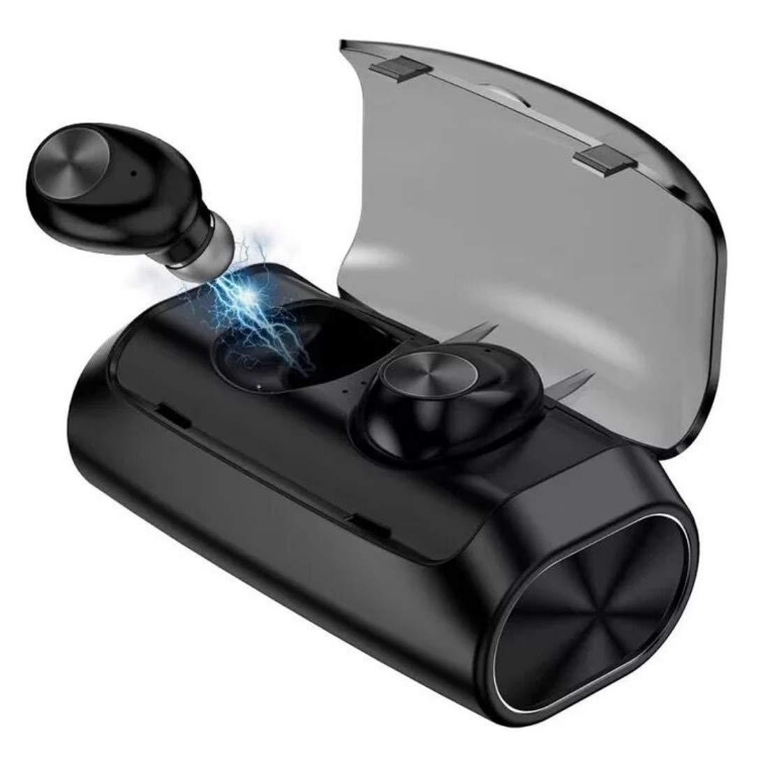 True Wireless Earbuds Bluetooth 5.0 Headphones | Sports in-Ear TWS Stereo Earphones Built-in Mini Headset | Deep Bass IPX5 Waterproof Instant Pairing 125H Battery Charging Case Earphones