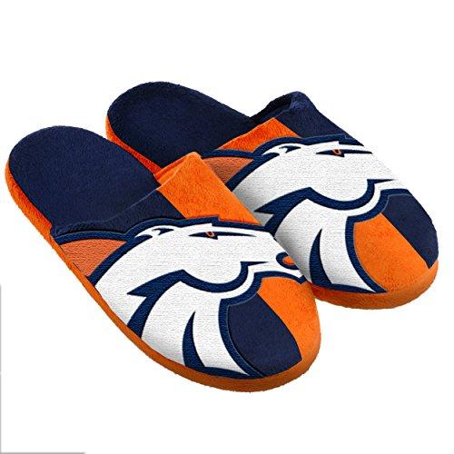 Denver Broncos Split Color Slide Slipper Extra Large