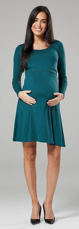 Zeta Ville - Stillen A-Linie Kleid Schwangere Schwangere Schwangere Rundhalsausschnitt - Damen - 128c B07NC8VZ6J Freizeit Attraktiv und langlebig 4b1770