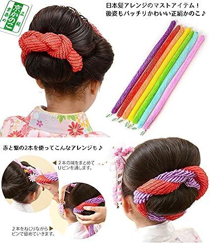 Amazon.co.jp: 髪飾り 正絹 京...